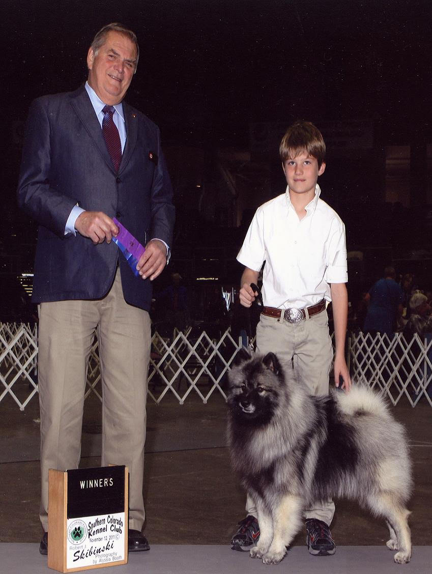 Young man at dog show